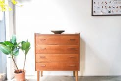 Danish Vintage Chest of Four Drawers